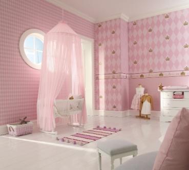 marburg tapete gl ckler 54142 children 39 s paradise rauten rosa hellrosa farben. Black Bedroom Furniture Sets. Home Design Ideas