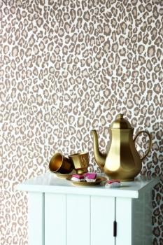 Tapeten Leopardenmuster rasch textil vlies tapete nr 136809 pink weiß leopard