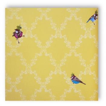 marburg tapete gl ckler 54110 children 39 s paradise ornament v gel gelb wei farben. Black Bedroom Furniture Sets. Home Design Ideas