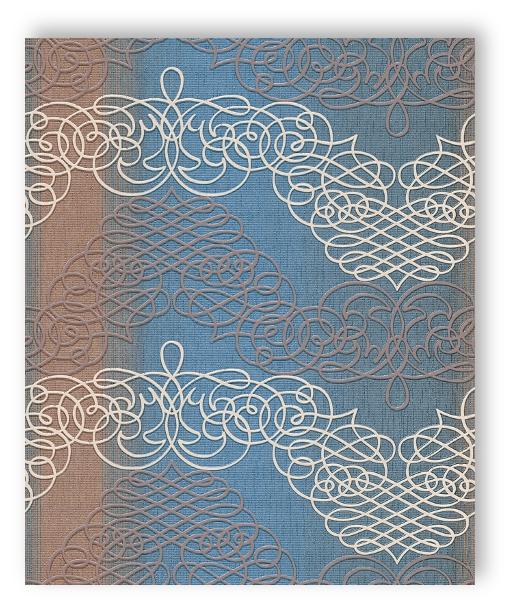 Rasch tapete new wave 2015 453645 ornament blau braun wei for Tapete ornament blau