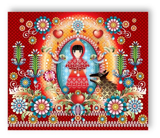 Rasch Textil Tapeten Verarbeiten : Rasch Textil Catalina Estrada Wandbild 323466 Mural Little Red