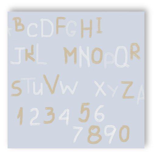 Rasch Textil Tapete 002258 Bim Bum Bam ABC Alphabet Buchstaben ...